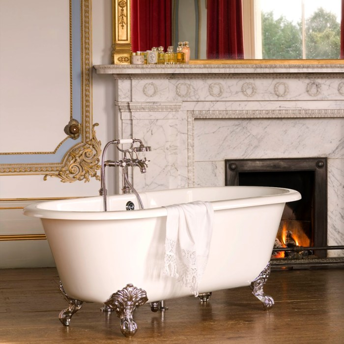 Victoria + Albert Cheshire bath in volcanic limestone is distributed in Quenesland by Luxe by Design, Brisbane.
