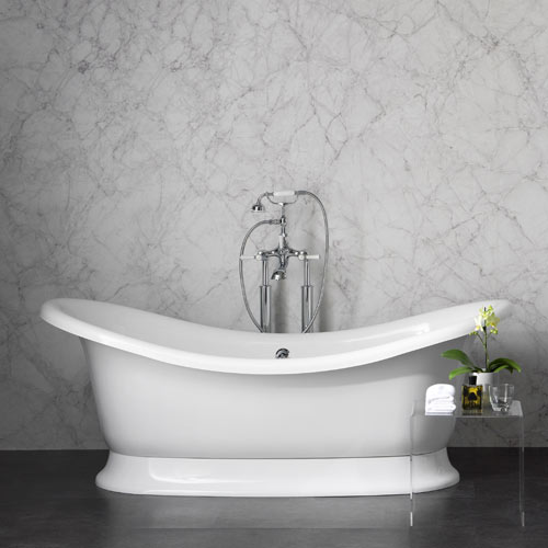 Victoria + Albert Marlborough stone bath - distributed in Australia by Luxe by design, Brisbane.