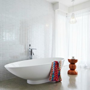 Rebecca Judd's master ensuite features the Victoria + Albert Napoli bath by Luxe by Design, Brisbane.