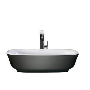 Victoria + Albert Amiata Anthracite basin custom painted bath by Luxe by Design, Brisbane.