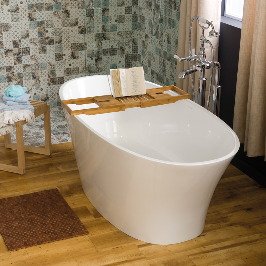 Victoria + Albert Ionian modern oval bath is imported and distributed in Australia by Luxe by Design, Brisbane.