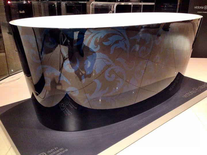 Victoria + Albert Ios bath - custom painted filigree by Luxe by Design, Brisbane.
