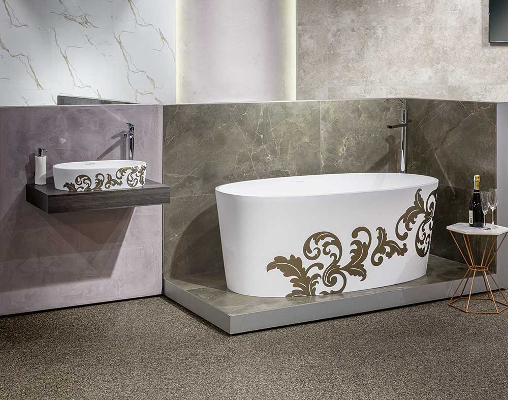 Victoria + Albert Ios bath and basin - matte filigree