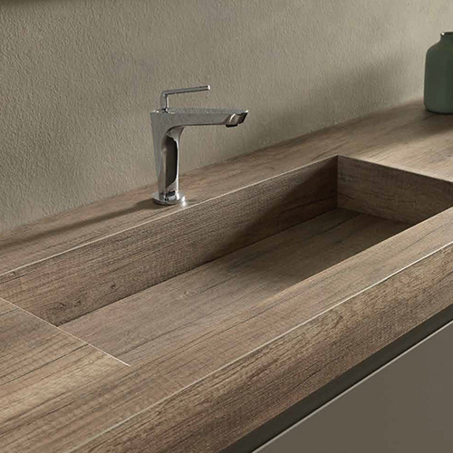 Kokoon Bathroom Furniture- HPL Wood and Marble top vanities are distributed in Australia by Luxe by Design.