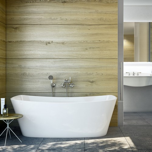 Victoria + Albert Trivento bateau freestanding bath. Distributed in Australia by Luxe by Design, Australia.