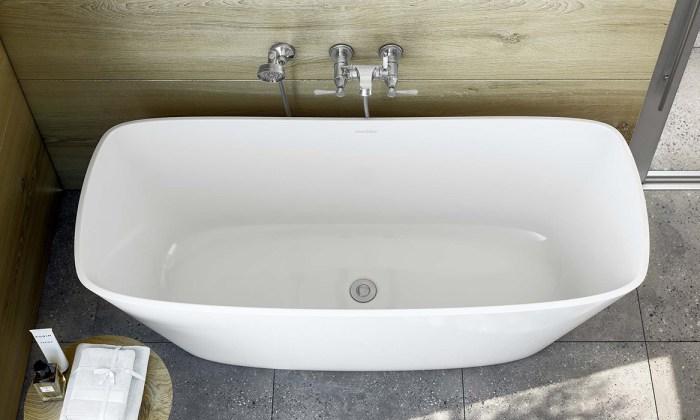 Victoria + Albert Trivento bateau freestanding bath. Distributed in Australia by Luxe by Design, Australia.