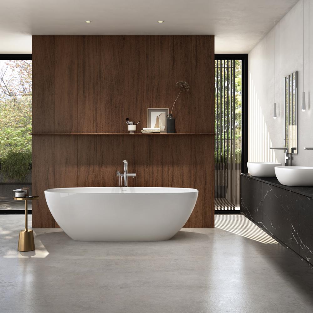 Victoria + Albert Barcelona 1800 stone freestanding bath. Distributed in Australia by Luxe by Design, Brisbane.