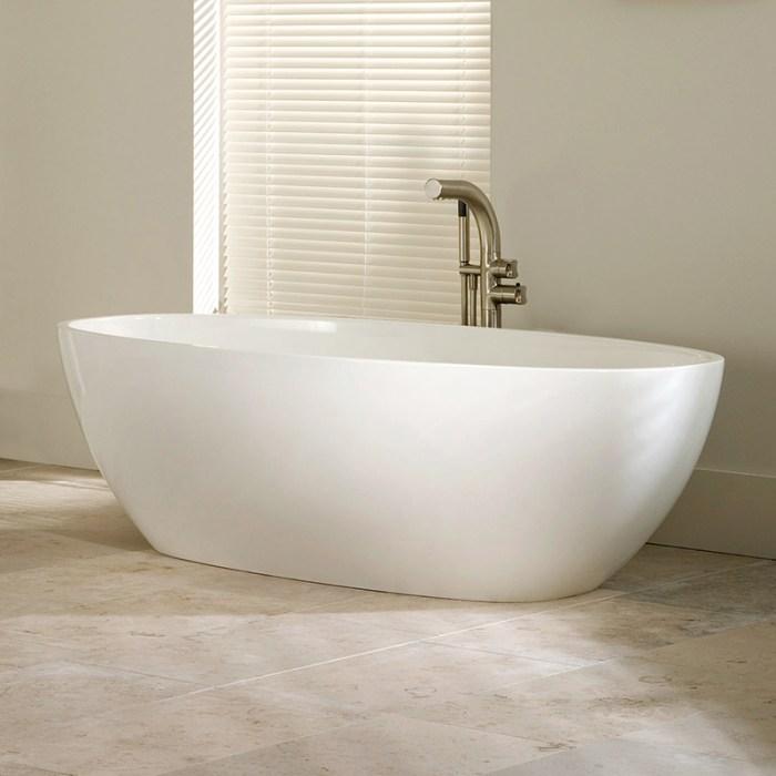 Victoria + Albert Barcelona 1700 stone freestanding bath. Distributed in Australia by Luxe by Design, Brisbane.