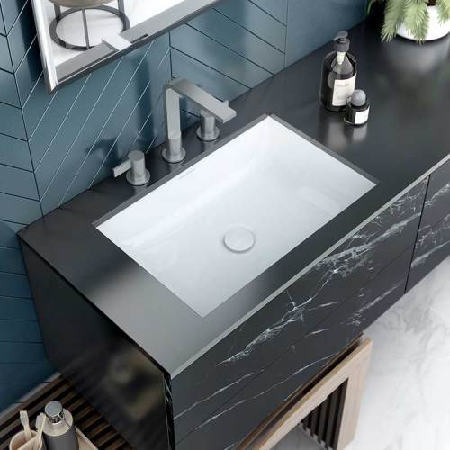 Victoria + Albert Kaldera 56 undermount rectangular basin. Distributed in Australia by Luxe by Design, Brisbane.