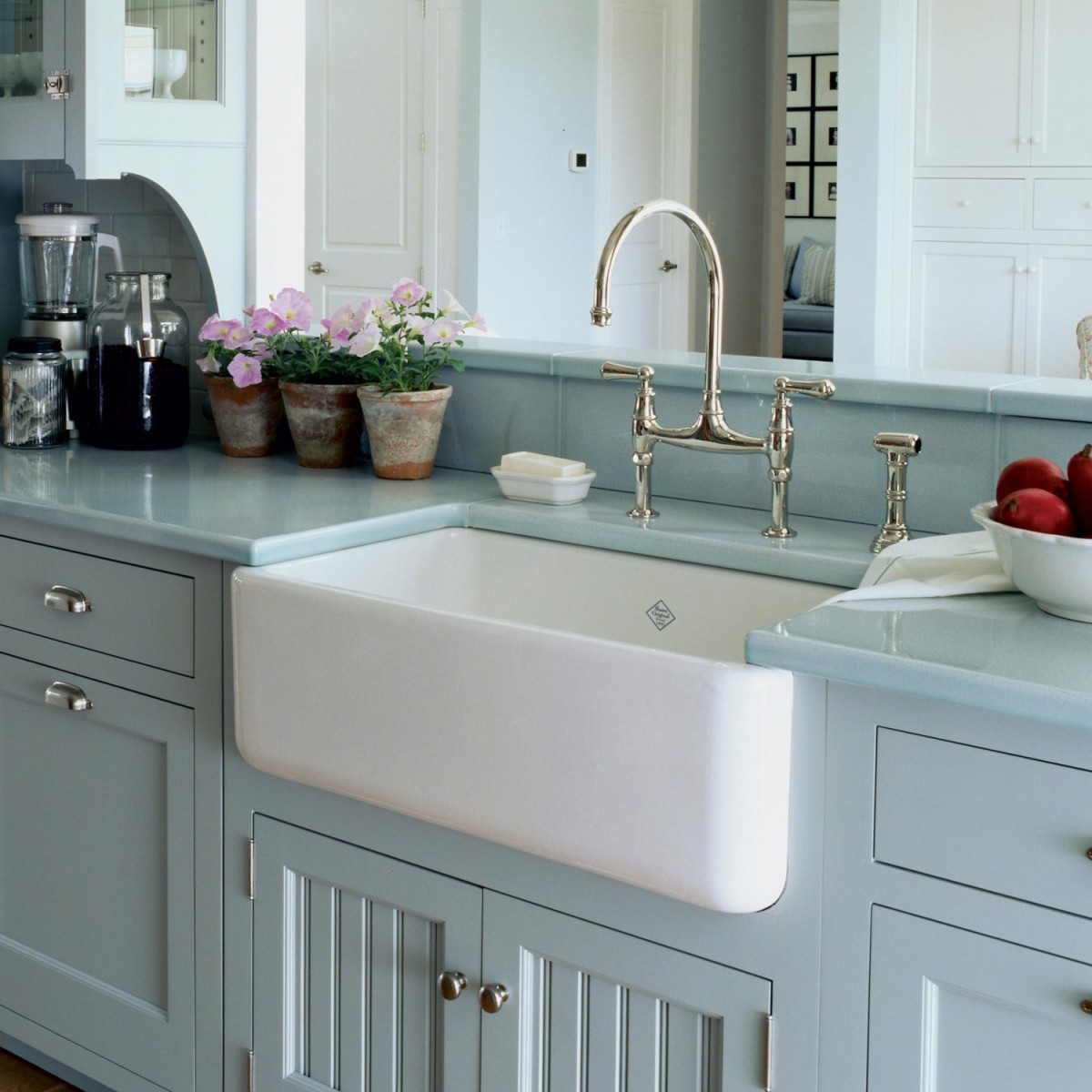 Shaws Butler 800 fireclay butler sink. Distributed in Australia by Luxe by Design, Brisbane.