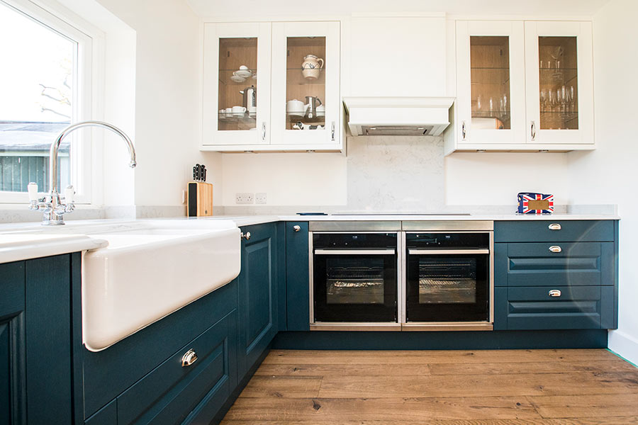 Shaws Butler 800 fireclay butler sink. Distributed in Australia by Luxe by Design, Brisbane. Kitchen by Herbert William UK.