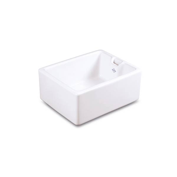 Shaws Belfast Sink. 600mm single bowl fireclay butler sink by Shaws of Darwen, England. Imported and distributed in Australia by Luxe by Design, Brisbane.