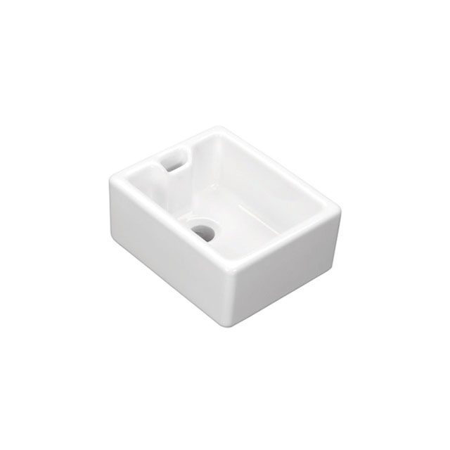 Shaws Baby Belfast Sink. 460mm single bowl fireclay butler sink by Shaws of Darwen, England. Imported and distributed in Australia by Luxe by Design, Brisbane.