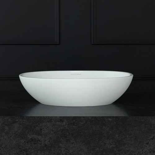 Victoria + Albert Barcelona 48 matte white stone basin, distributed in Australia by Luxe by Design, Brisbane.