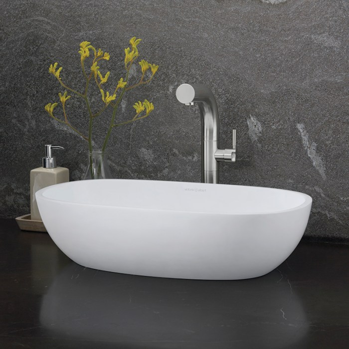 Victoria + Albert Barcelona 55 matte white stone basin, distributed in Australia by Luxe by Design, Brisbane.