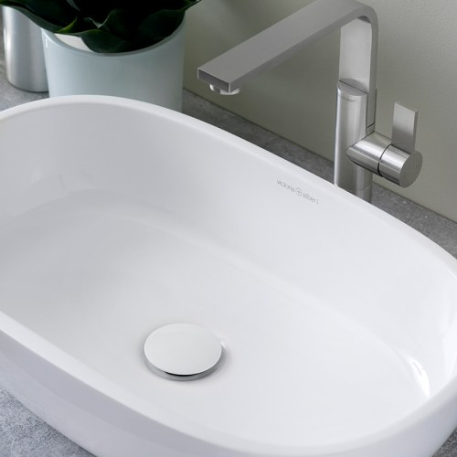 Victoria + Albert Barcelona 55 matte white stone basin, distributed in Australia by Luxe by Design, Brisbane.