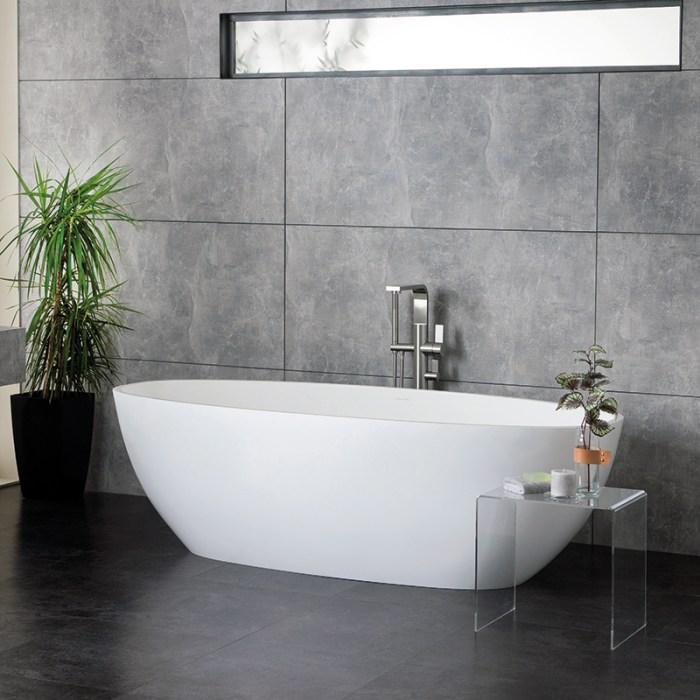 Victoria + Albert Barcelona matte white stone bath, distributed in Australia by Luxe by Design, Brisbane.