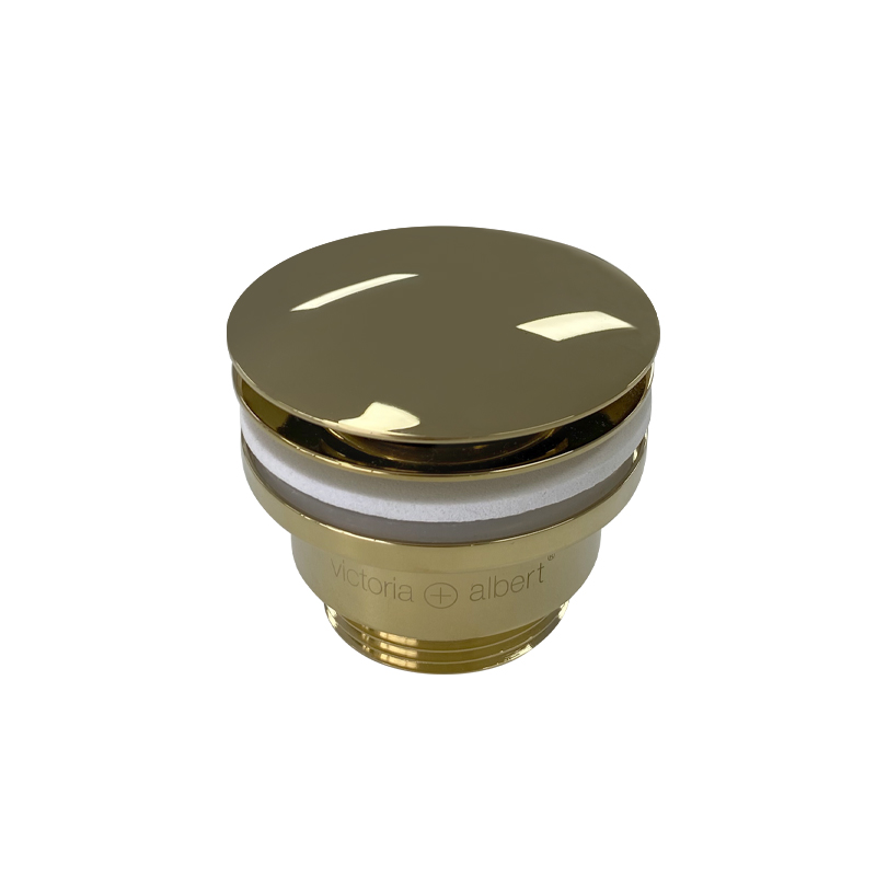 Victoria + Albert K25 - Kit 25 basin waste. Polished Brass / gold pop up waste. Distributed by Luxe by Design, Australia,