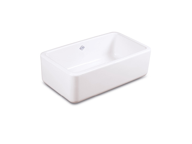 Shaws Farnworth Single 838 fireclay butler sink with no overflow. Distributed in Australia by Luxe by Design, Brisbane