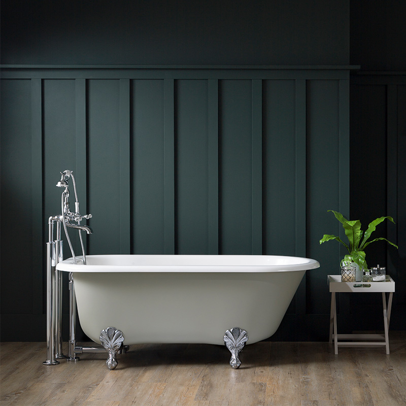 Victoria + Albert Kit 50 exposed bath waste with overflow for claw foot and freestanding baths. Distributed in Australia by Luxe by Design, Brisbane.