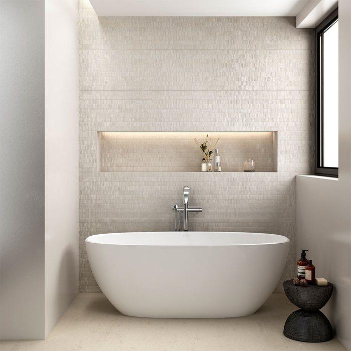 Victoria + Albert Barcelona 1500 stone freestanding bath. Distributed in Australia by Luxe by Design, Brisbane.