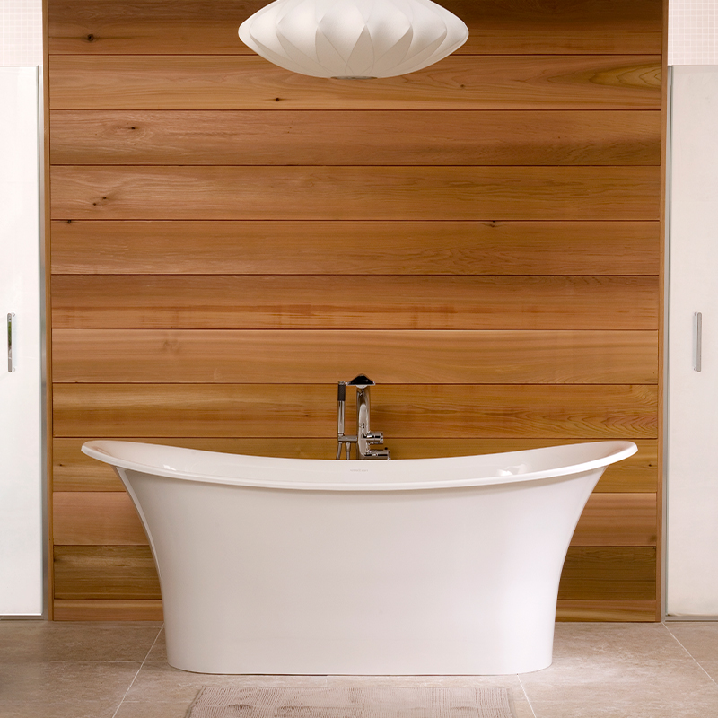 Victoria + Albert Toulouse 1500 in volcanic limestone is distributed in Quenesland by Luxe by Design, Australia.