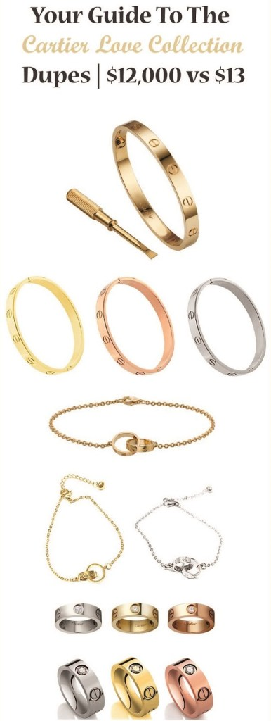 Your Guide To The Cartier Love Collection Dupes