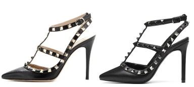 All Black Valentino Rockstud Heels Dupes