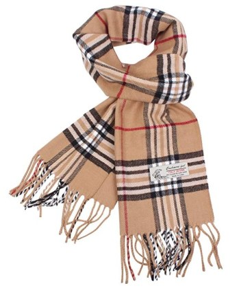 Classic Cashmere Feel Burberry Scarf Look-Alike