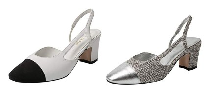 Two-Toned Slingback Shoes Chanel Dupes
