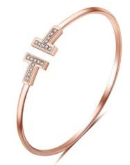 Rose Gold Tiffany T Bracelet Dupes