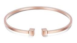 Rose Gold Tiffany T Bracelet Look-Alike