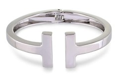 Silver Tiffany T Inspired Wire Bracelet
