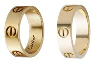 Cartier Gold Love Rings and Cartier 6mm Gold Love Ring Dupes
