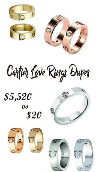 The Best Cartier Love Rings Dupes
