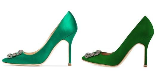 Green Manolo Blahnik Hangisi Dupes