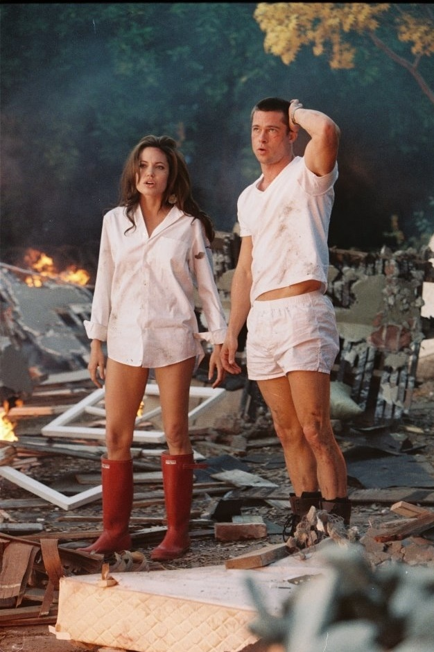 "The actors in the film ""Mr. and Mrs. Smith"""