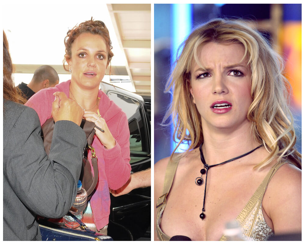 Britney Spears Celebrities, who made disheveled hair as Signature Style 3