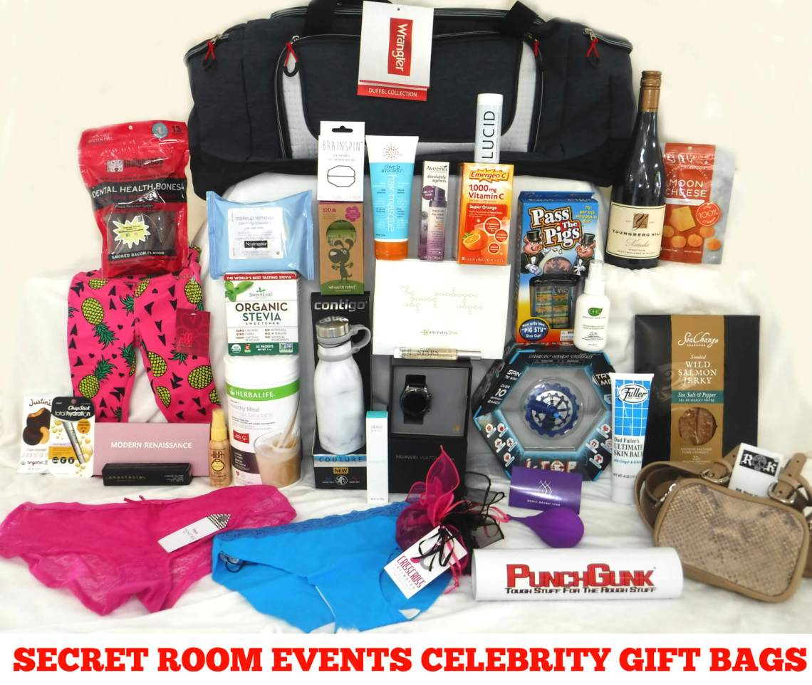 Secret Room Events September 2018 Red Carpet Retreat Celebrity Gift Bags