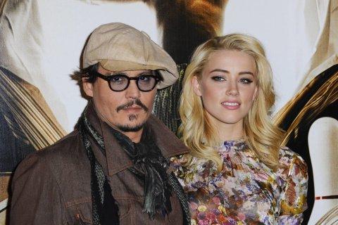 Depp and Hurd in 2011