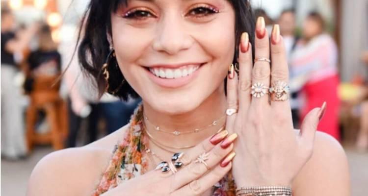 Actress Vanessa Hudgens Ombre manicure