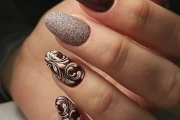 Brown manicure & Chocolate manicure