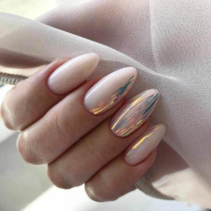 Office manicure with foil