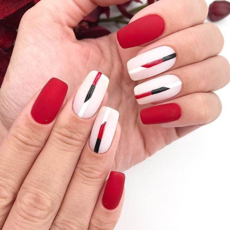 White and red design