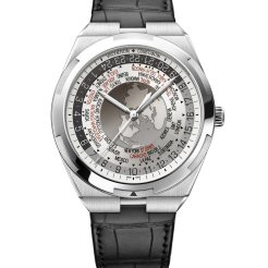 LuxeGetaways_World Time Overseas cadran gris7700V-110A-B129bracelet cuir