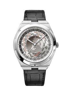 LuxeGetaways_World Time Overseas cadran gris7700V-110A-B129bracelet cuir