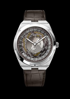 World Time Overseas marron7700V-110A-B176bracelet cuir