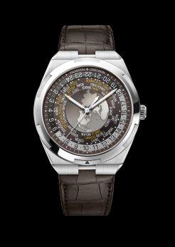 World Time Overseas marron7700V-110A-B176bracelet cuir