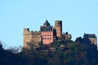 Schönburg Castle in Oberwesel, Germany