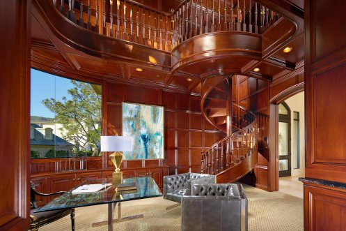 LuxeGetaways - Luxury Travel - Luxury Travel Magazine - Luxe Getaways - Luxury Lifestyle - Laguna Beach Real Estate - DeCaro Auctions - Mahogany Library - Spiral Staircase
